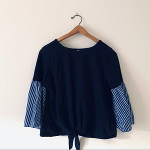 BOGO NY Collection Tie Front Blouse